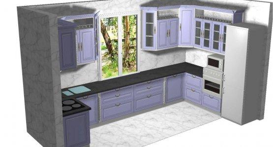 Фото проекта кухни Проект № 18
