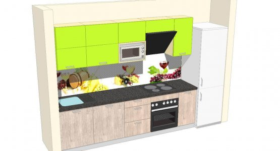 Фото проекта кухни Проект кухни №6