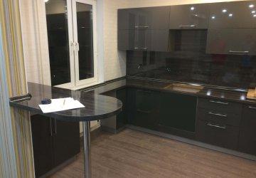 Кухня ЛАК глянец серый металлик (2017г.) фото