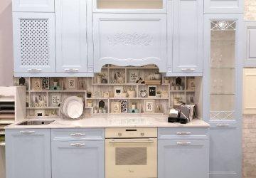 Фото статьи Голубая кухня в стиле «Прованс»