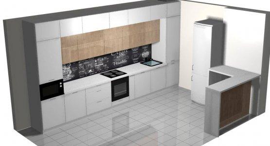 Фото проекта кухни Проект кухни № 14