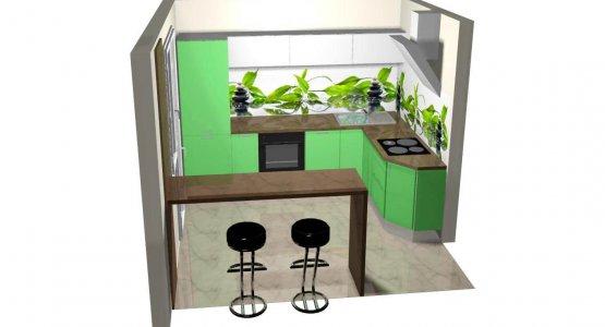 Фото проекта кухни Проект кухни № 4
