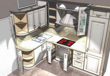 Угловые кухни на заказ фото