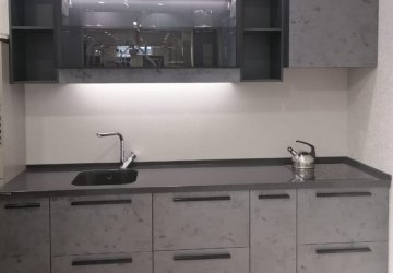 Фото статьи Современная кухня с фасадами под бетон