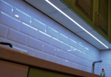 Фото статьи Светодиодная подсветка для кухни