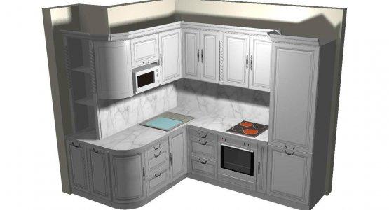 Фото работы Проект кухни №5