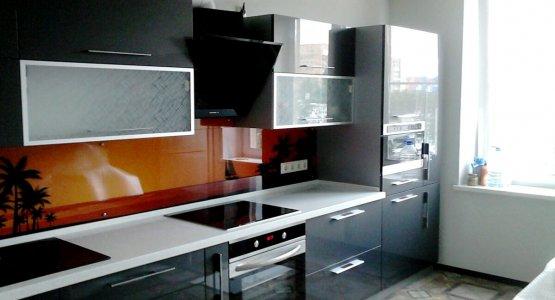 Фото работы Кухня с акриловыми фасадами