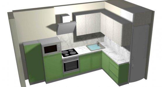 Фото работы Проект кухни №2