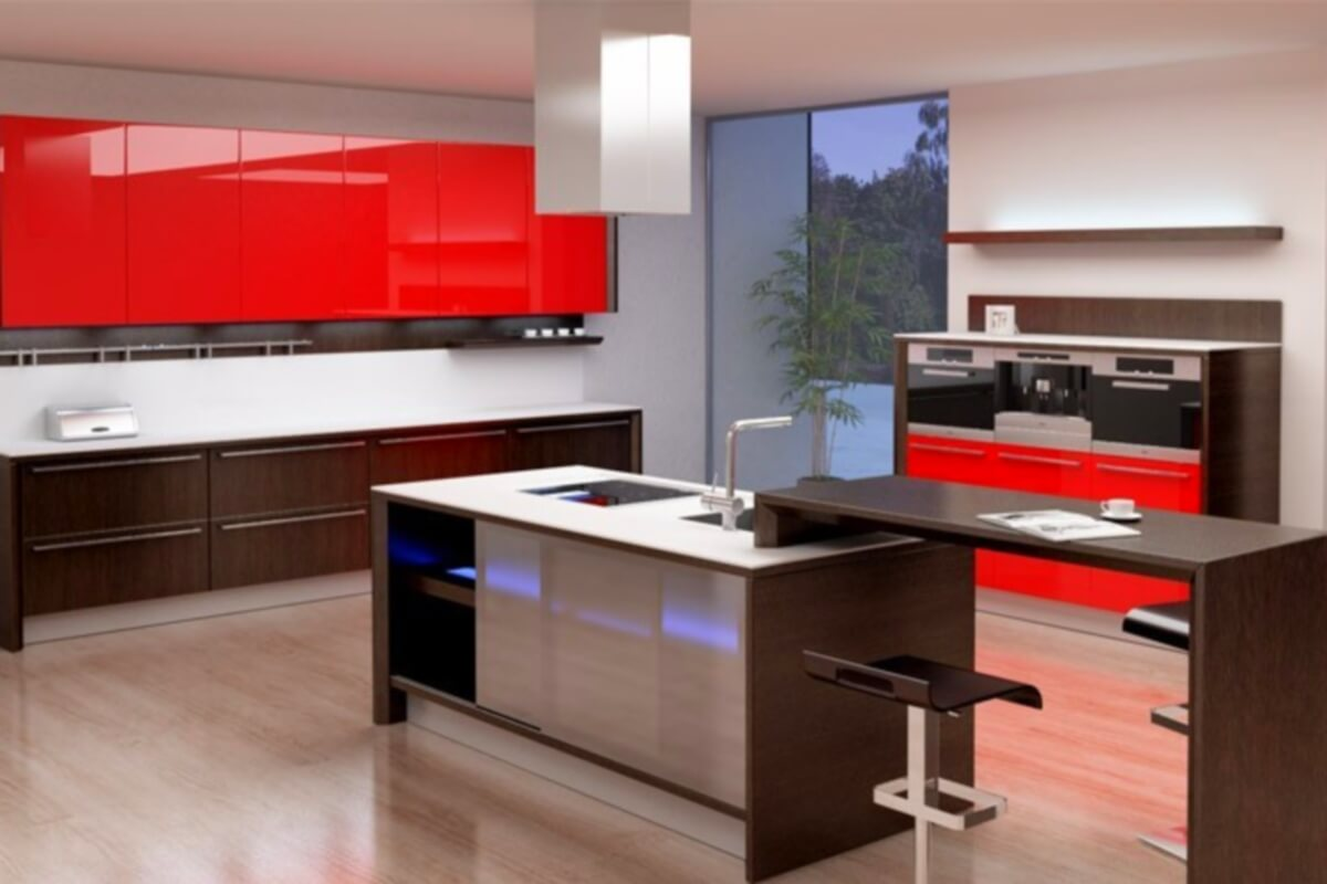 Фото кухни Феррари в стиле модерн
