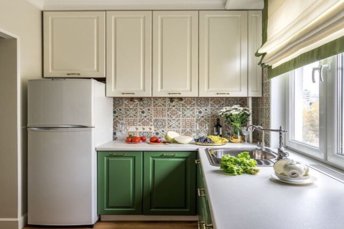 Фото кухни Дуэт в классическом стиле