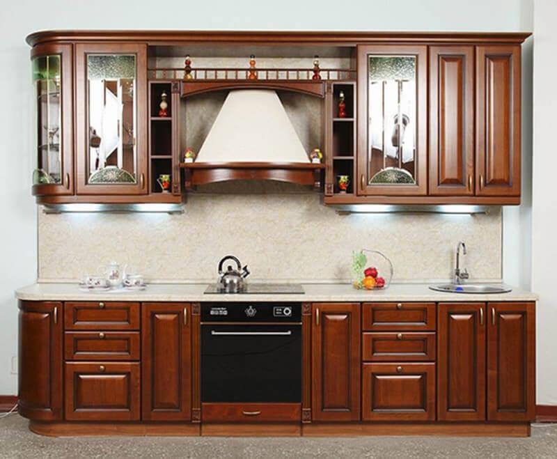Фото кухонного фасада из массива