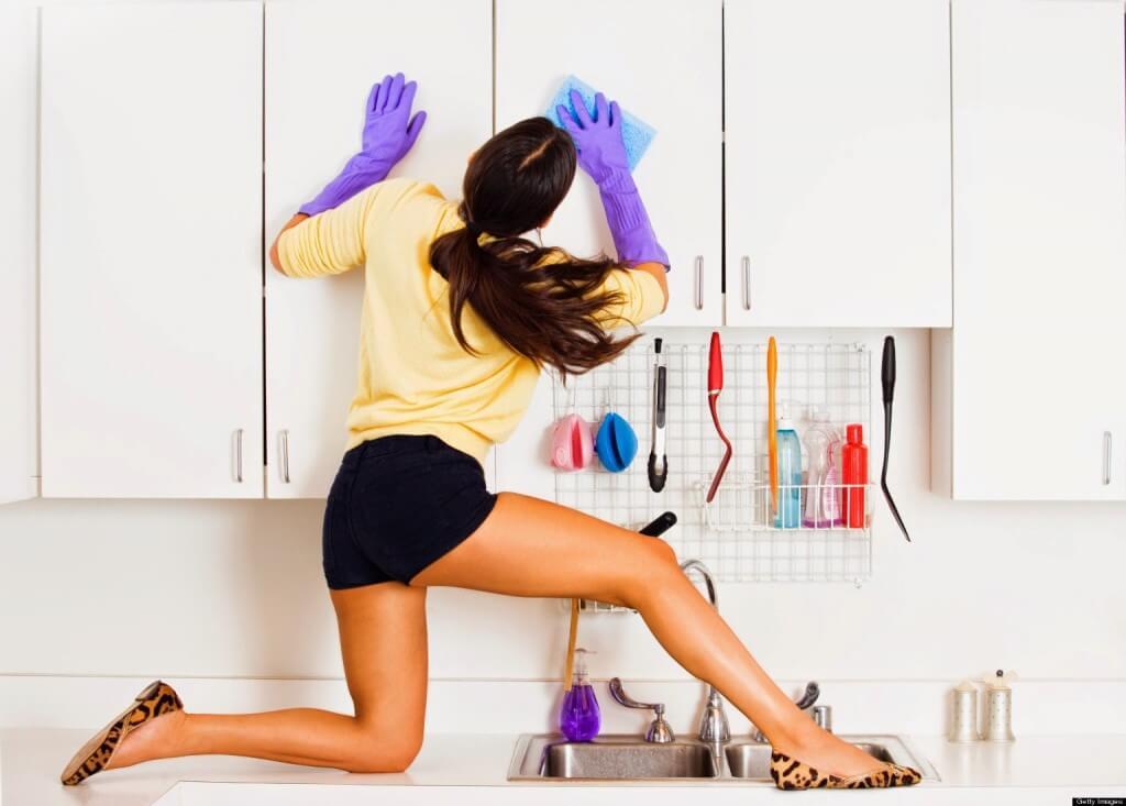 Чистка кухонного фасада
